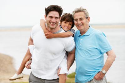 Healthy family-- three generations