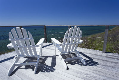 Photograph of Chairs overlooking the ocean