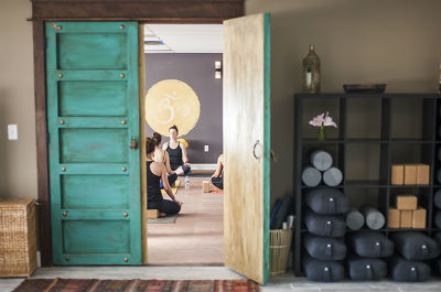 open door to yoga studo