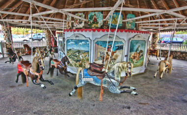 Flying Horse Carousel in Watch Hill, RI.