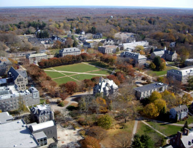 Aerial view of University of Rhode Island Kingston, RI.