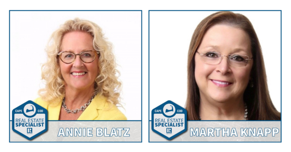 Graphic with Annie Blatz and Martha Knapp as real estate specialists