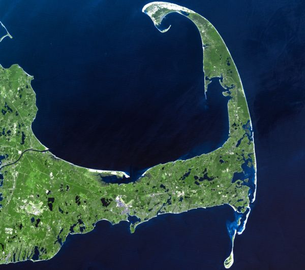 Image of Cape Cod from space