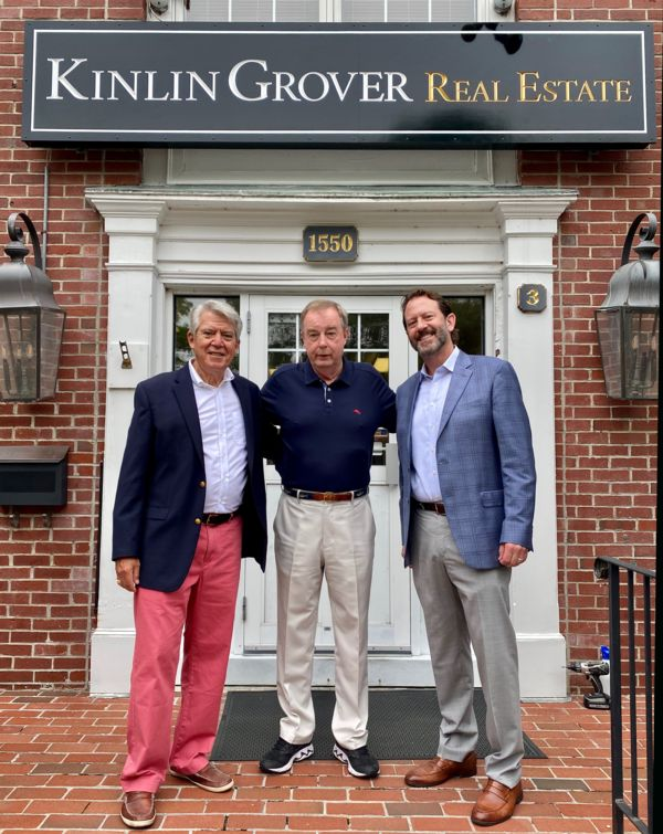 Photograph of Jack Driscoll, Mike Schlot and Brian Cobb of Kinlin Grover real estate