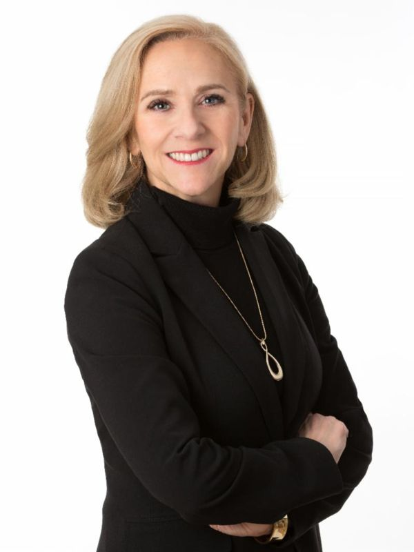 Photograph of Kathy Forrester, the new VP of Marketing