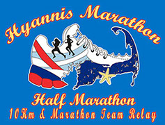 Hyannis Marathon logo. 2019 marathon in Hyannis February 24th.