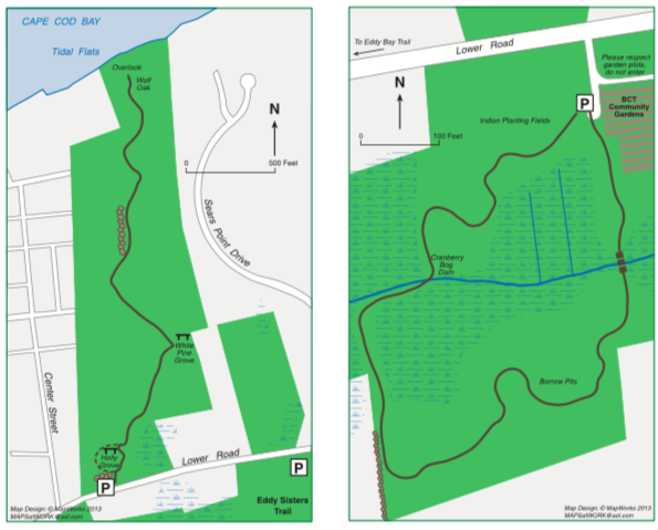 Map image of trails in Brewster