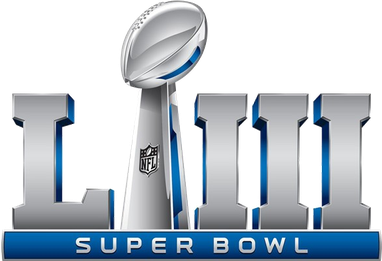 Superbowl LIII February 3, 2019 logo.
