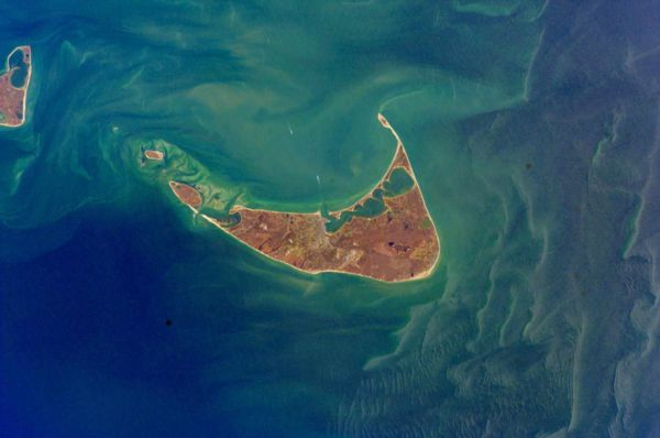 NASA photograph of nantucket from space