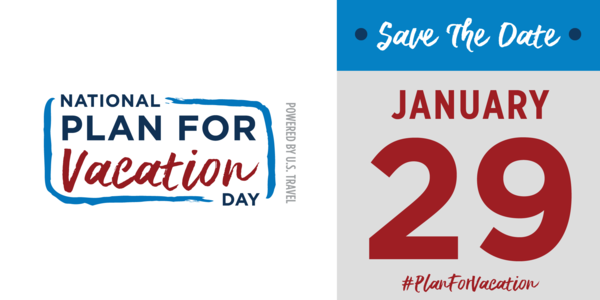 Graphic for National Plan for Vacation Day, save the date: January 29th
