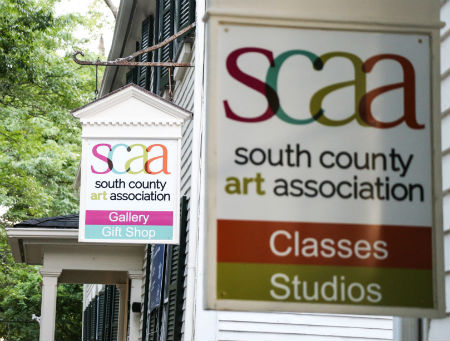 South County Art Association signs and enterance.