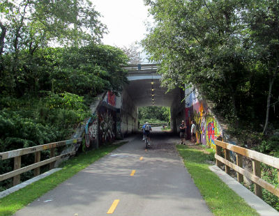 South County Bike Path underpass.