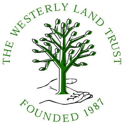The Westerly Land Trust logo. Organized hikes in South County.