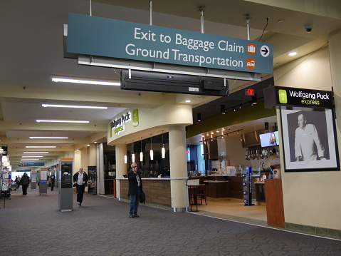 Image of the baggage claim in T.F. Green Airport