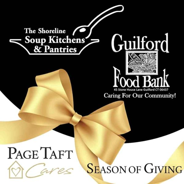 graphic with shoreline soup kitchen and guilford food pantry