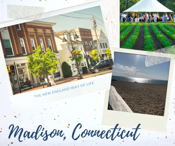 Graphic with photos representing Madison CT