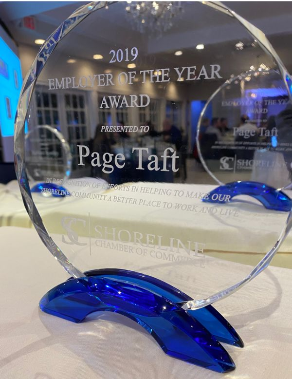 Photograph of the Page Taft Employer of the Year Award