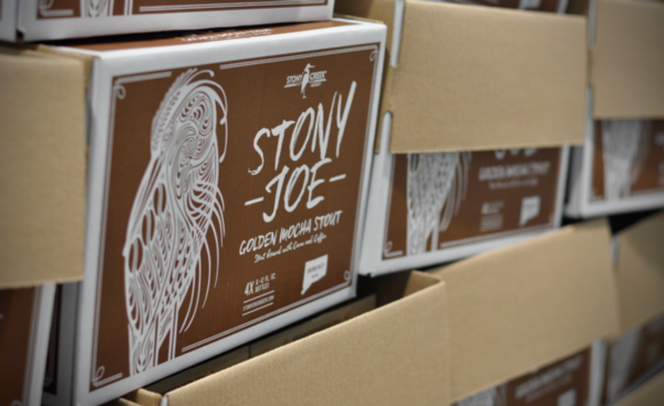 Photo of a box of Stony Joe beer from Stony Creek Brewey